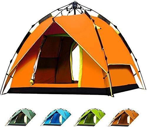 LKK-KK 2-3 Personas Tienda de campaña - Completamente automático al Aire Libre Sun Refugio instantánea Cabana portátil a Prueba de Agua Sombra Toldo for Vacaciones Familiares (Color : Orange)