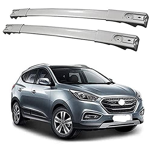 Barra De Techo De Aluminio Para Hyundai IX35 2011-2016, 2 Piezas Barras Portaequipajes Para Coche Transporte De Carga AnticorrosióN Barra Transversal De Equipaje Para Techo