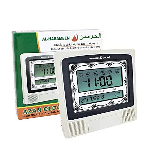 Islamitische Azan wekker, moslim gebed tijdklok, digitale 5 Namaaz herinnering muur klok HA-4012, huis/kantoor/moskee decoratieve bureau klok