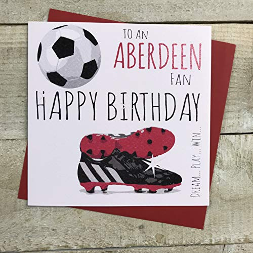 Aberdeen The Dons FC Football Club Birthday Card - by WHITE COTTON CARDS - 16