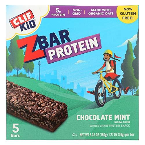 Clif Kid Zbar Organic Kid Zbar Protein - Chocolate Mint - Case of 6 - 1.27 oz. Delaware