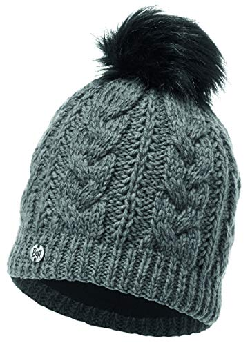 Buff Unisex-Adult 116044.906.10.00 Knitted & Polar HAT Darla GREYPEWTER, Grey Pewter, Einheitsgröße