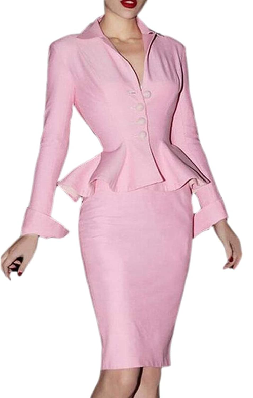 Fly Year-JP 女性スタイリッシュビジネスブレザーのジャケット
