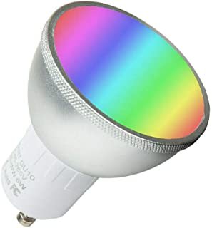 Smart Bulbs WiFi Light Bulbs Dimmable Colour Changing RGB Smart Light Control GU10 WiFi Bulb Compatible with Alexa Google Home IFTTT No Hub Required 6W=60W Equivalent Remote Controlled by Smartphone