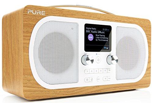 Pure Evoke H6 Digitalradio (DAB+, DAB, UKW, Stereo-Sound, Bluetooth, Sleep-Timer, Weckfunktion, Schlummerfunktion, Countdown-Timer, 40 Senderspeicherplätze, AUX), Eiche