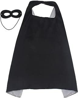 Reversible Superhero Cape+Eye Mask Halloween Costume for Kids, Adult, Men, Women