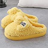 Zapatillas Casa Hombre Mujer Invierno Zapatillas Mullidas Cálidas De Interior...
