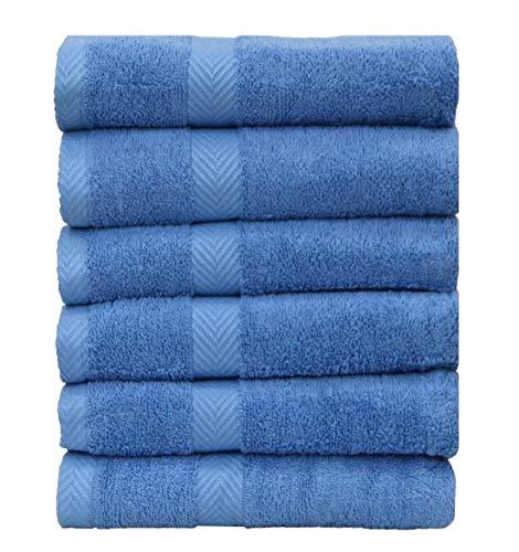 Chely Intermarket, Toallas de Baño, Manos y Toalla de Piscina // Azul.Clarito/ 100x140 cm (x12unds) / 550 grs-100% algodón. Secado rápido y Ligera. Fabricado en España.