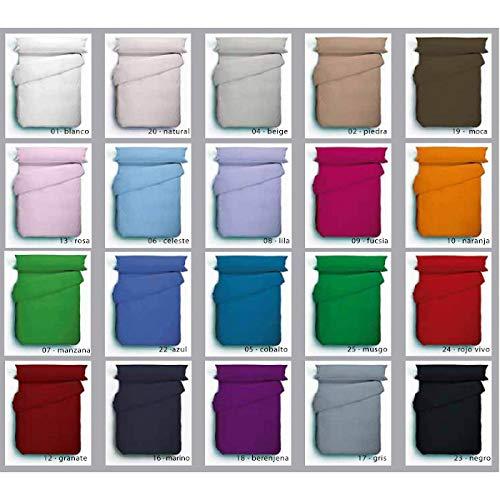 ABECE Funda nórdica Lisa Reversible Bicolor Mix&Match 50/50 Tacto Suave Antipeeling (Negro-Piedra, Cama 90)