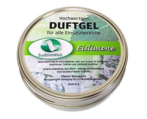 Sudorewell Geur Gel 'Ice Lime' voor Sauna, Infrarood Cabine en Badkamer, 80g Kan