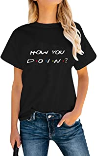 تي شيرت Friends TV Show T Shirt Teen Girl Women Long Sleeve Graphic Tee Tops How You Doin Funny Shirts