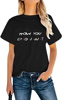تيشيرت Friends TV Show T Shirt للمراهقات بأكمام طويلة برسومات تيشيرت How You Doin Funny Shirts
