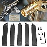 Set di inserti in metallo duro da 5 pezzi da 3/4 in, set di punte per utensili di tornitur...