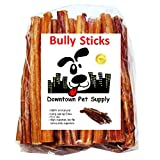 Downtown Pet Supply 6 inch Bully Sticks - Standard Regular Thick Select Dog Dental Chew Treats (10 Pack)