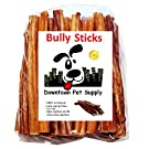 Downtown Pet Supply 6 inch Bully Sticks, Standard Regular Thick Select Dog Dental Chew Treats
