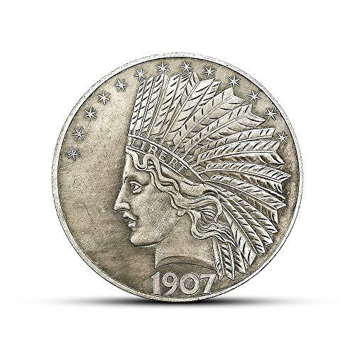 Indio,Antigüedad,Moneda de Plata,Colección,Regalo,Alta Calidad,México,1907,1947 el Mejor Regalo / 1907 / Paridad