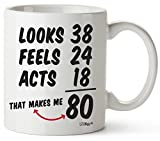 80th Birthday Gifts For Women Eighty Years Old Men Gift Happy Funny 80 Mens Womens Womans Wifes Female Man Best Friend Basket 1941 Male Unique Ideas 40 Woman Wife Gag Dad Cute Girls Guys Good Husband