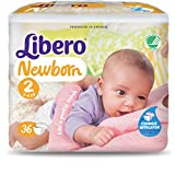 Pañales Libero Newborn Talla 2–3/6kg–216unidades (6paquetes de 36)