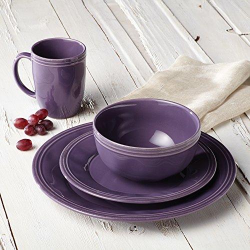 Service de Vaisselle en Céramique 16 Pièces Rachael Ray en Mauve - 5