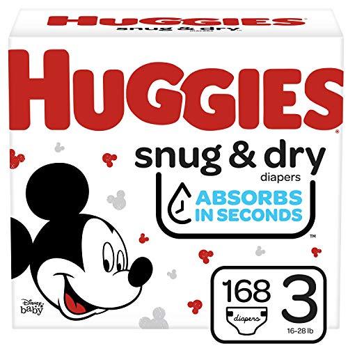 Huggies Snug & Dry Baby Diapers, Size 3, 168 Ct