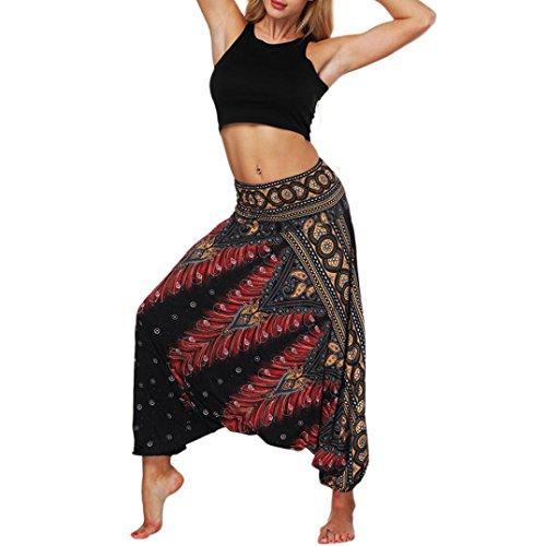 TUDUZ Spodnie do jogi Baggy, Hippie Boho, spodnie haremki, alladynki, pumpy, pludry, dla kobiet