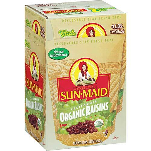SunMaid Organic California SunDried Raisins  2 Pack 4 lbs
