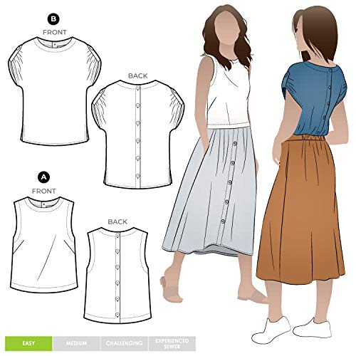 Style Arc Sewing Pattern - Bonnie Woven Tops (Sizes 04-16) - Click for Other Sizes Available