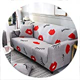 sensitives New Plants Sectional Stretch Sofa Covers Elastic Slipcovers All Inclusive Polyester Sofa Cushion Sofa Towel for Living Room,Color 6,2 Seater 145-185CM