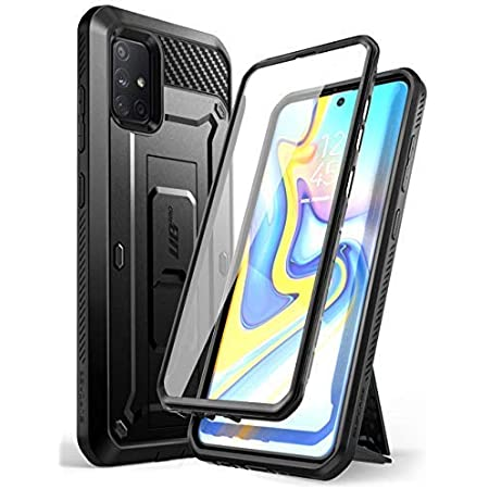 SUPCASE Unicorn Beetle Pro Series Designed for Samsung Galaxy A71 5G Case[Not for A71 5G UW Verizon], Full-Body Rugged Holster & Kickstand Case with Built-in Screen Protector (Black)