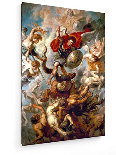 weewado Peter Paul Rubens - La caída de los ángeles 80x120 cm Impresion en Lienzo - Muro de Arte - Canvas, Cuadro, Poster - Old Masters/Museum