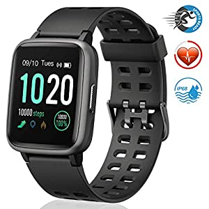 Fashion Shopping FitFort Smart Watch for Android and iOS Phone 2019 Version IP68 Waterproof, Fitness Tracker Watch with Heart Rate…