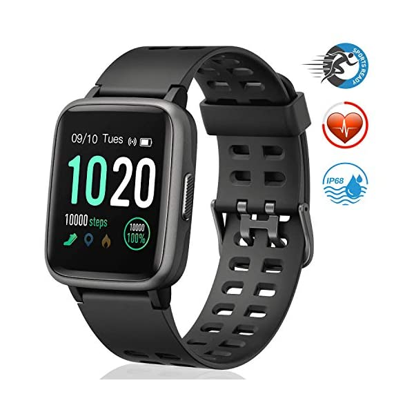 Fashion Shopping FitFort Smart Watch for Android and iOS Phone 2019 Version IP68 Waterproof, Fitness