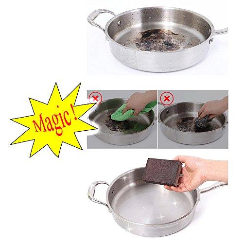 Adpartner 6PCS Magic Emery Sponge Brush Kitchen Carborundum Nano Sponges Set Eraser Cleaner Rust Home Cleaning Tool