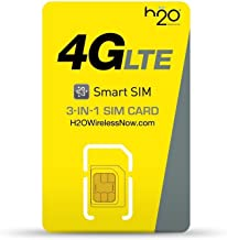 H2O Wireless Triple Cut Nano/Micro/Standard 4G LTE SIM Card - $30 Monthly Plan