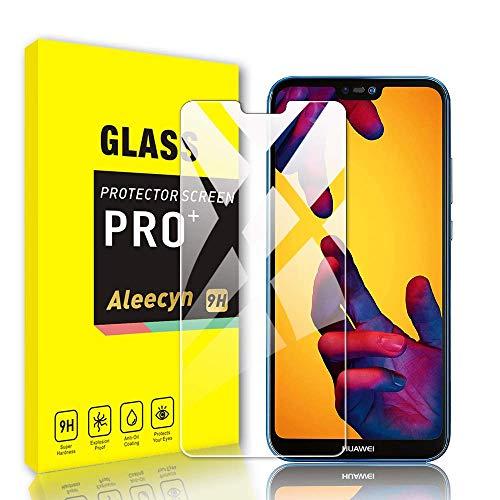 ALEECYN [3 pezzi Cristal Templado para Huawei P20 Lite, Dureza 9H, Anti-Rasguño,Fácil de Instalar, Vidrio Templado Protector de Pantalla para Huawei P20 Lite
