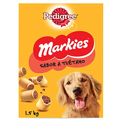Pedigree Markies Galletas para perro Sabor Tuétano (Pack De 5 x 1,5kg)