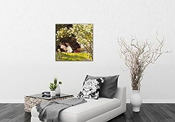Kunstdruck Poster Im Bilderrahmen 80 x 60 cm Wand-Bilder 1893 Gerahmtes Bild Mit Edlem Passepartout Der Rosengarten 1art1 Peter Severen Kroyer