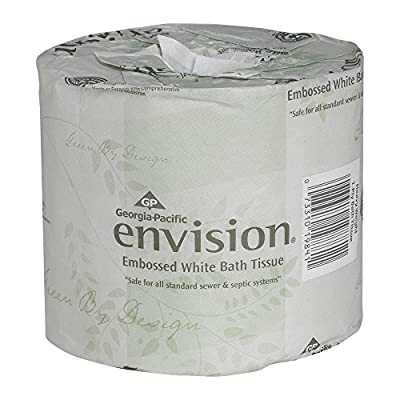 Envision 2-Ply Embossed Toilet Paper by GP PRO (Georgia-Pacific), 19880/01, 550 Sheets Per Roll