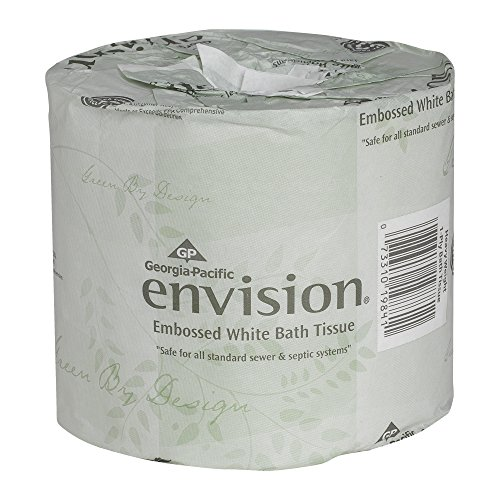 Envision 1-Ply Toilet Paper by GP PRO (Georgia-Pacific), 19841/01, 550 Sheets Per Roll, 40 Rolls Per Case , White