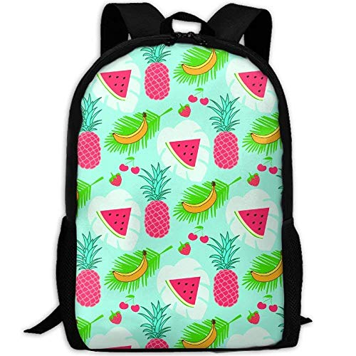 TRFashion Mochila Colorful Summer Fruits Seamless Pattern Print Custom Casual School Bag Backpack Multipurpose Travel Daypack