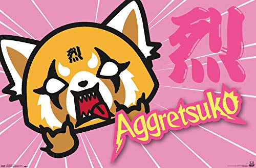 Trends International Aggretsuko-Horns Wall Poster, 22.375' x 34', Multicolor