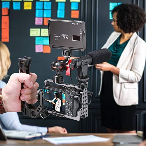 Emiral Kamera Mikrofon, Mini Shotgun VideoMic für Aufnahme mit Aluminiumgehäuse, Echtzeitüberwachung, für Canon, Sony, Nikon, DSLR-Kamera, Smartphone iPhone und Android (Nicht für Canon T5i, T6)