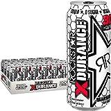 Rockstar Xdurance Kiwi Strawberry Energy Drink, 0 sugar 0 calories and Electrolytes, 16oz (24 Pack) (Packaging May Vary)