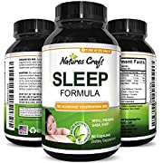Best Natural Revitalizing Sleep Formula - End Fatigue - Supports Deep Uninterrupted Sleep - Non Addictive Supplement - Magnesium L-Theanine GABA - Purest Herbal Ingredients