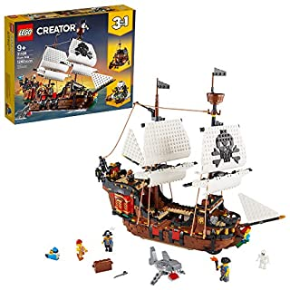 LEGO Creator 3in1 Pirate Ship 31109 Building Playset for Kids who Love Pirates and Model Ships, Makes a Great Gift for Children who Like Creative Play and Adventures, New 2020 (1,260 Pieces) (B0858K44NP) | Amazon price tracker / tracking, Amazon price history charts, Amazon price watches, Amazon price drop alerts