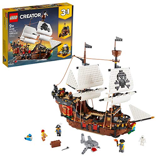 LEGO Creator 3in1 Pirate Ship 31109 Building Playset for Kids who...