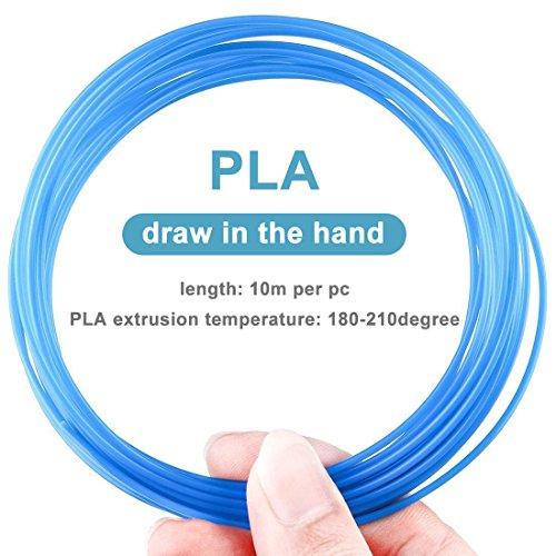 3D Stift Filament PLA, 20 Farben, je 10M – 3D Pen PLA Filament 1,75mm, 3D Stift Farben Set für ODRVM, Tecboss, Lovebay, 3D Stift and 3D Druck Stift - 3