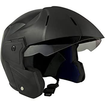 Benz Power (ISI Certified) Scooty Helmet Open Face (Extra Large - XL, Black Glossy)