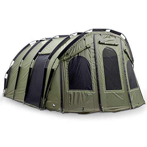 Lucx® Bigfoot Bivvy 4 bis 6 Personen Angelzelt Karpfenzelt 2 3 4 5 6 Mann Anglerzelt Carp Dome Fishing Tent