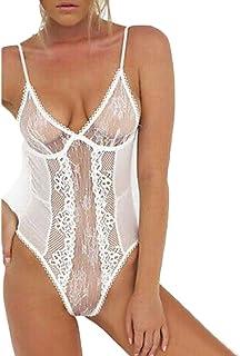 007XIXI Petite Sleepwear for Women Clearance,Women Girl Tempting Sexy Lace Bra Lingerie Bodice Underwear Bodysuit Sleepwear